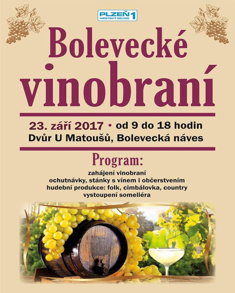Akce v Plzni Bolevci - Bolevecké vinobraní