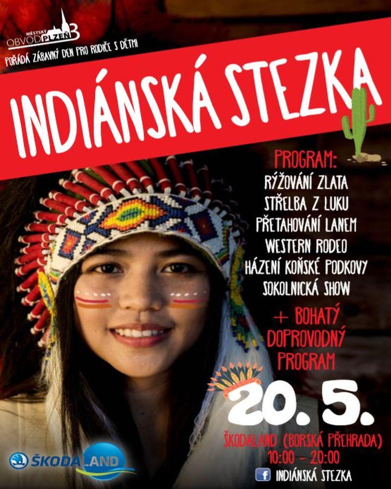 Indiánská stezka - akce v Plzni pro děti